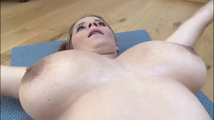 Big Boobs Stretching